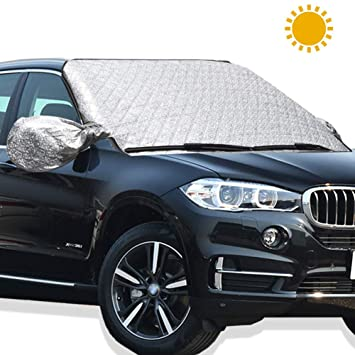 Protector de limpiaparabrisas para coche para proteger el parabrisas y los espejos, material resistente,