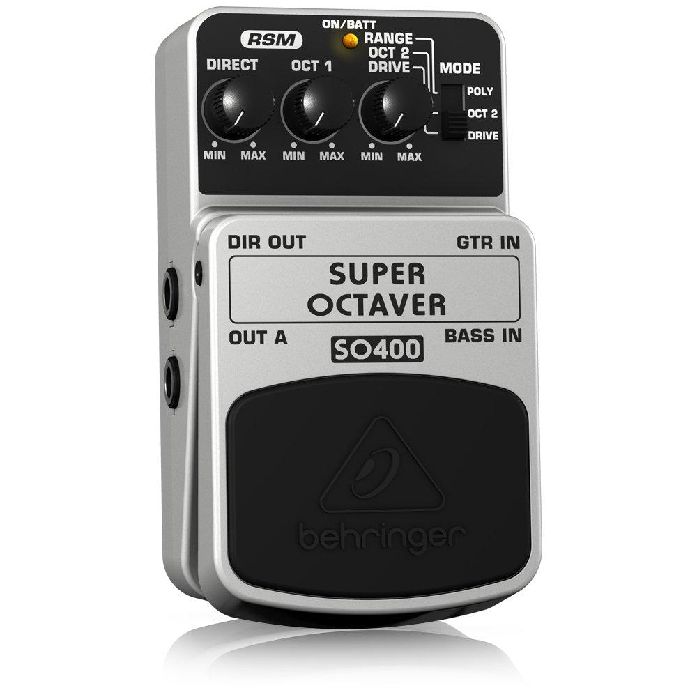 Behringer SO400 4033653053259 - Pedal octavador para guitarra, color blanco: Amazon.es: Instrumentos musicales
