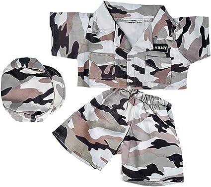 "TEDDY BEAR ARMY DIGITAL CAMO w//CAP Outfit CLOTHES Fit 8/""-10/"" Build-a-bear !NEW!"