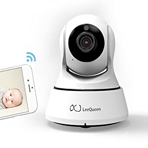 LeeQueen Wireless Baby Monitor - Digital Audio Intelligent Camera with HD 720P