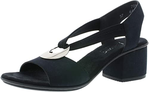 Rieker 64673 Damen Sandaletten,Sommerschuhe,offene Absatzschuhe,feminin