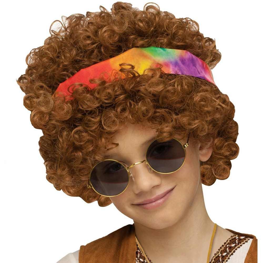 Fun World Hippie Fro Child Wig- Brown Standard 92456