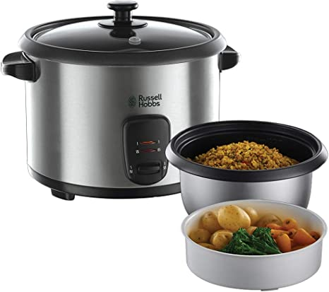 1.8 Litre Russell Hobbs 19750 Rice Cooker and Steamer Silver