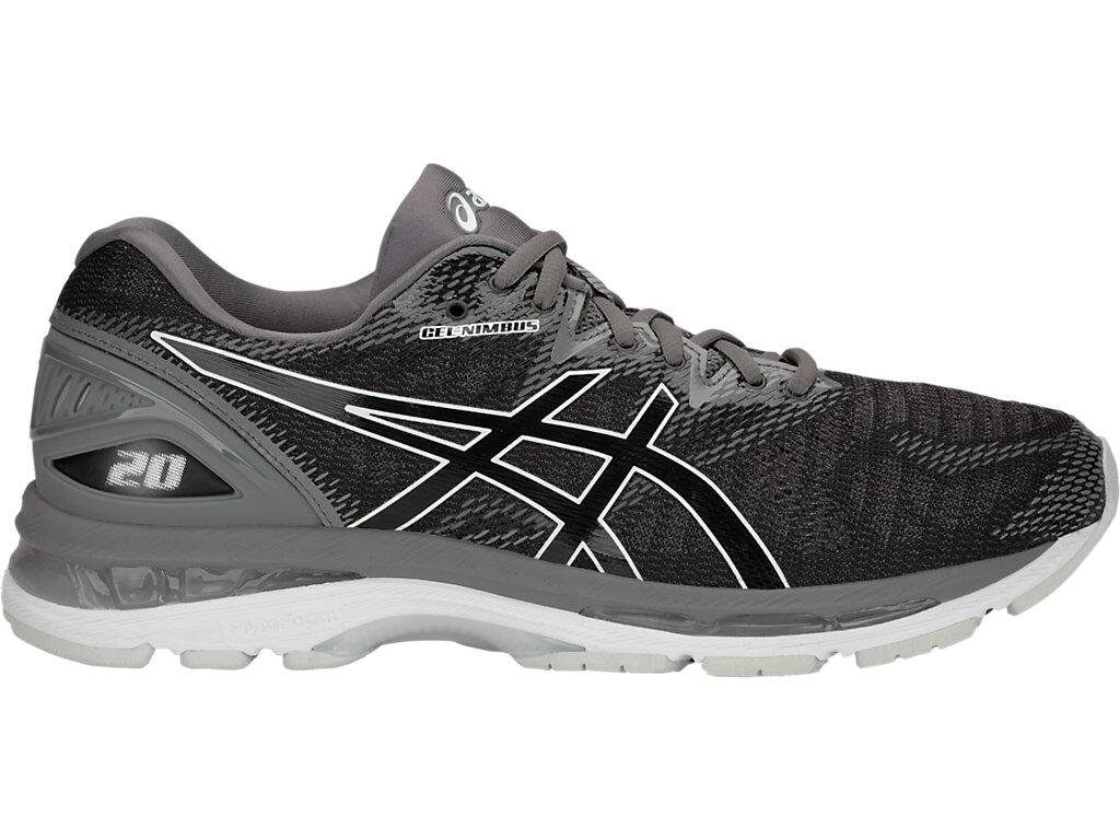 ASICS Men's Gel-Nimbus 20 Running Shoes (12 D(M) US, Black/Carbon)