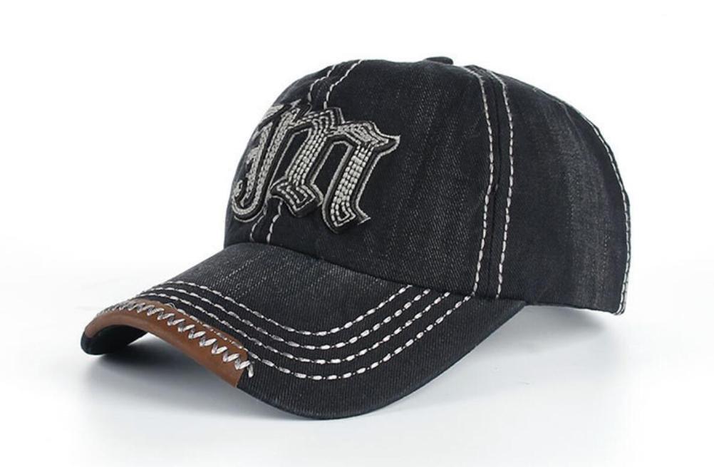 Gorra de béisbol unisex del ocio del algodón del bordado   Deportes  Sanpback Jeans casquillo ocasional a275a86c2b5