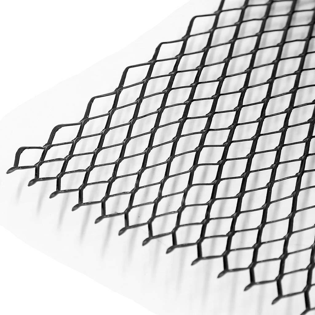 Silver D DOLITY 40x13inch Automotive Car Rhombic Grille Mesh Net Sheet 8x16mm Rhombus Shape Grill