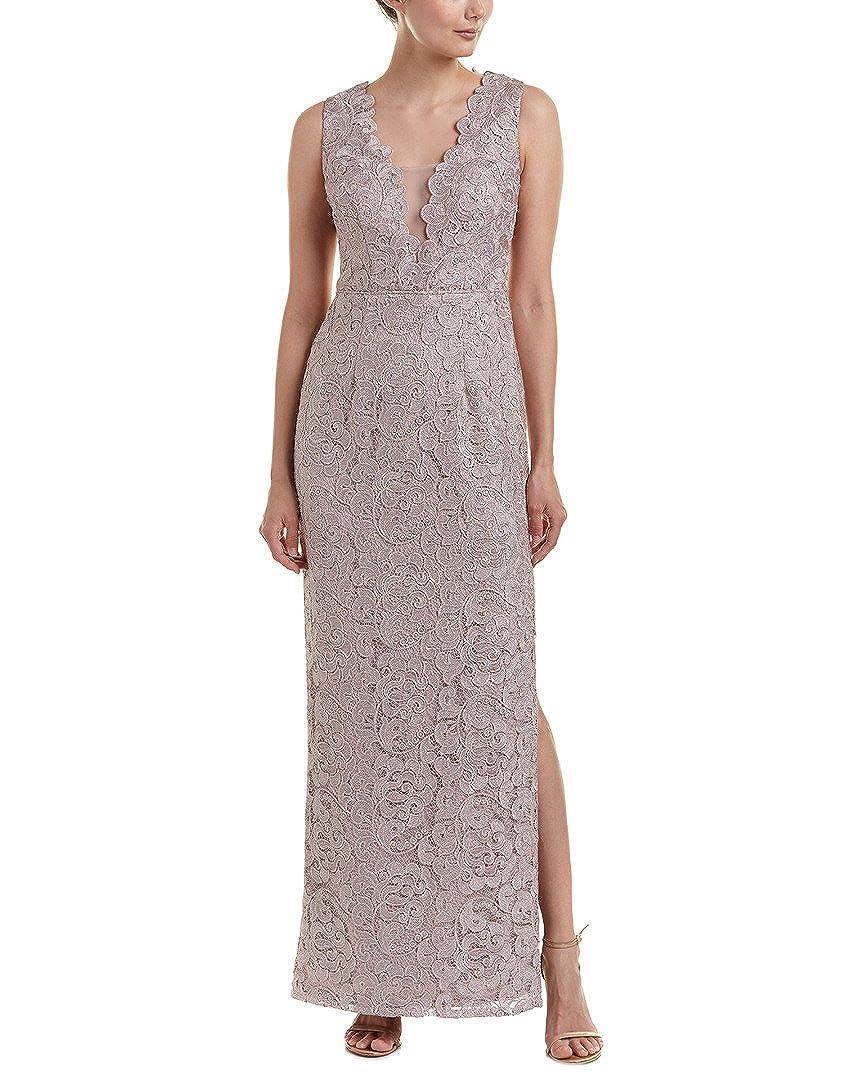 Aidan Mattox Womens Lace Illusion Metallic Evening Dress at Amazon ...