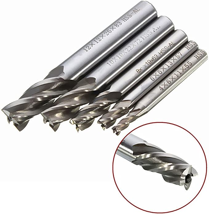 in ghisa alluminio HSS ad alta velocit/à in acciaio 2/flauto 4//6//8//10//12/mm fresa codolo fresa fresa per rame acciaio per utensili
