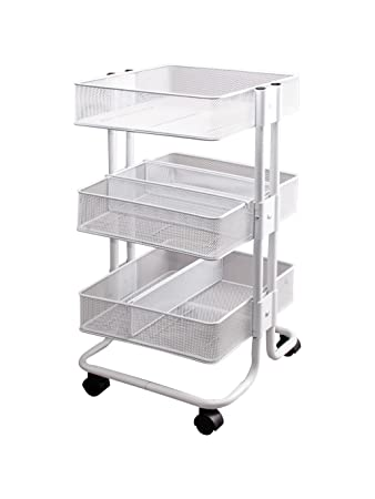 Amazoncom Storage Studios Mobile Craft Cart With Dividers - Craft organizer cart on wheels
