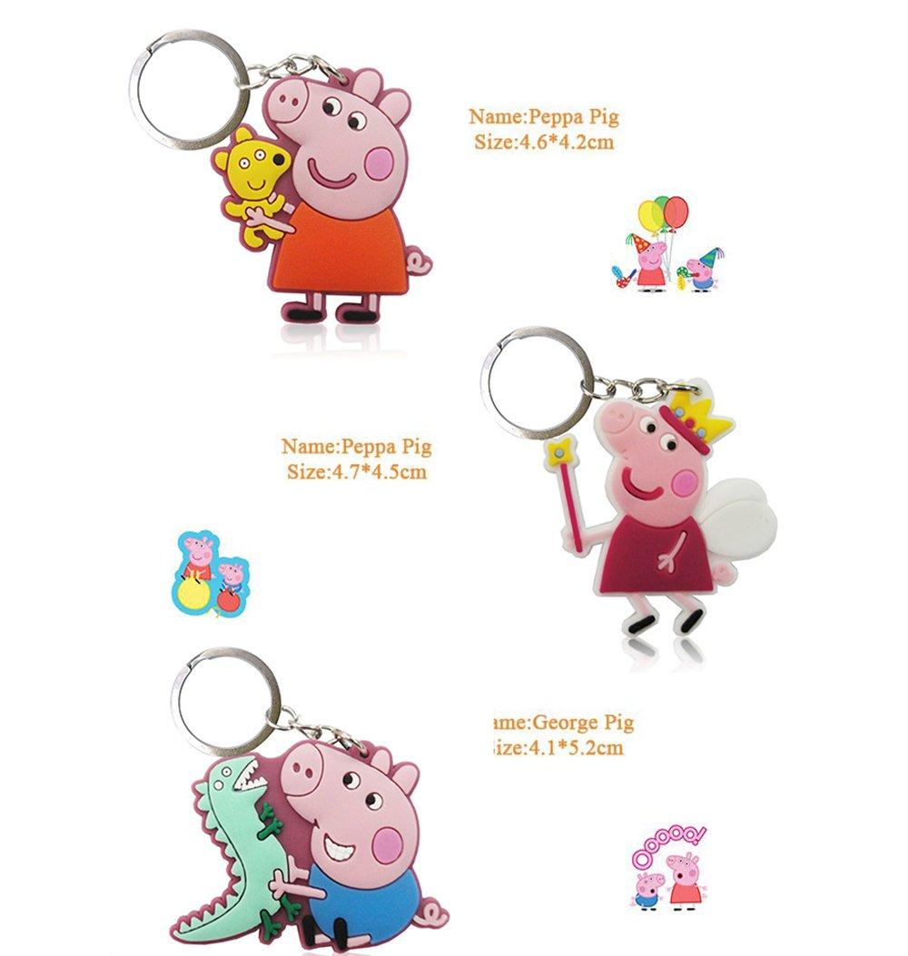 DEBON Peppa Pig llavero etiqueta de teléfono celular ...