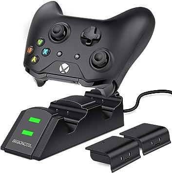 BEBONCOOL - Cargador de mando para Xbox One con batería recargable de 800 mAh NiMH, base de carga para Xbox One/One S/One X/Xbox Elite: Amazon.es: Electrónica