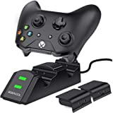 Xbox one Controller Charger 2 x 800mAh Rechargeable Battery Packs for Xbox One / One S / One X / Xbox Elite Controller Charging Station Xbox Dual Remote charge Dock by BEBONCOOL