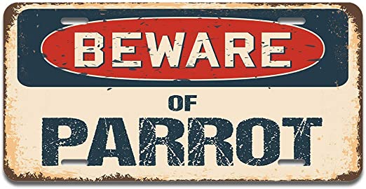 RV SUV or Trailer Made in The USA Truck SignMission Beware of Pomsky Aluminum License Plate 12 X 6 Fits Any Car