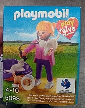 Playmobil 5098 veterinario con gatos y perro * exclusivo código * Play y dar 2015: Amazon.es: Juguetes y juegos