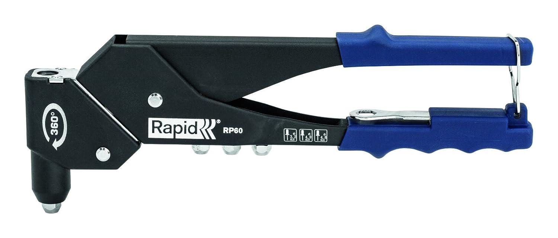 Rapid, 5000375, Pince à riveter, Travail de précision, Tête pivotante à 360°, RP60