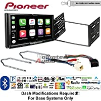 Volunteer Audio Pioneer AVH-W4400NEX Double Din Radio Install Kit with Wireless Apple CarPlay, Android Auto, Bluetooth Fits 1999-2004 F-150, 2003-2008 E-150, 1998-2012 Ranger