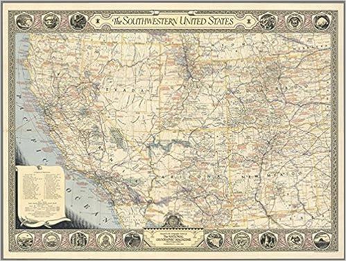 1940 Wall Map: Southwestern United States : Original Supplement ...
