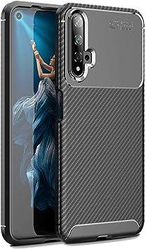 Hianjoo Funda Compatible con Huawei Nova 5T, Carcasa Carbon Fibre ...