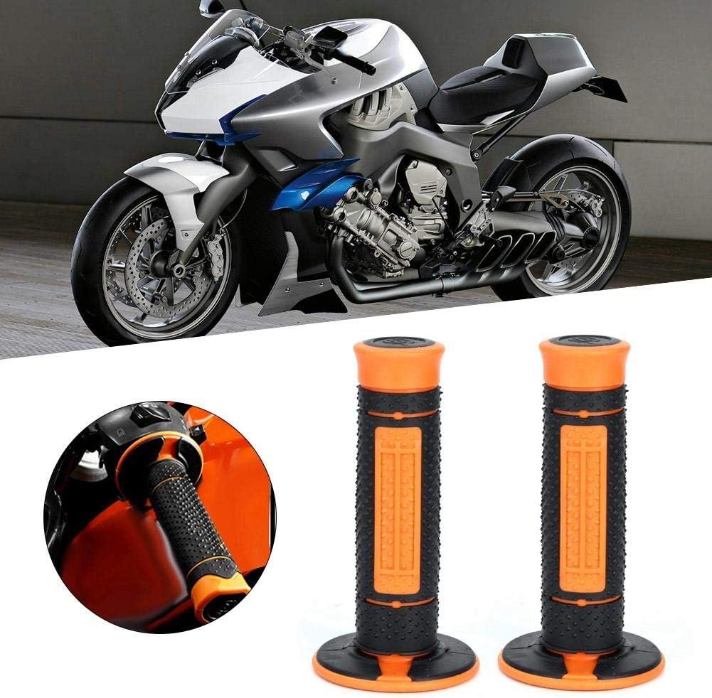 Qiilu 1 par de agarres para manillar de motocicleta gel de agarre de goma para motocicleta apto para 990125200390