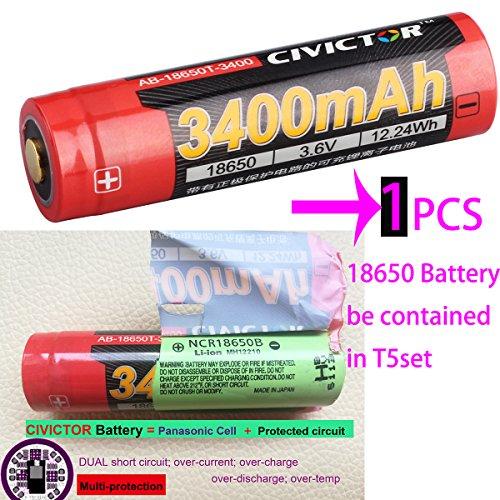dfce92514029f2 Torche Led Cree xm-l2 ultra puissante efficacité de la lumière jusqu à 90%, mesurée torche led 1000 lumens long tir à 170 m. L indicateur du cou  vous ...