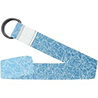 YOGA DESIGN LAB | The Yoga Strap 2.4m | Extra Long, Soft, Eco Printed | Studio Quality, Adjustable, Safely Stretch Further and Hold Longer