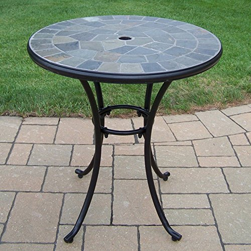 Oakland Living Stone Art 26 in. Patio Bistro Table