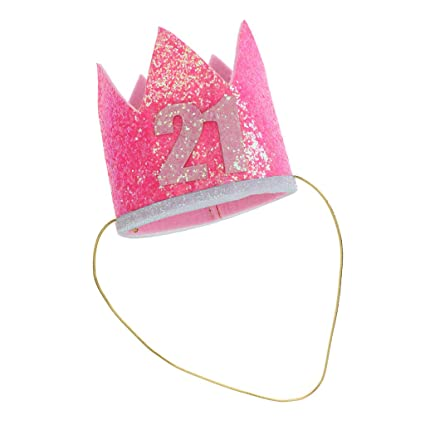 MagiDeal Happy 21st Birthday Crown Hat Adult Turning 21 Party Decorations