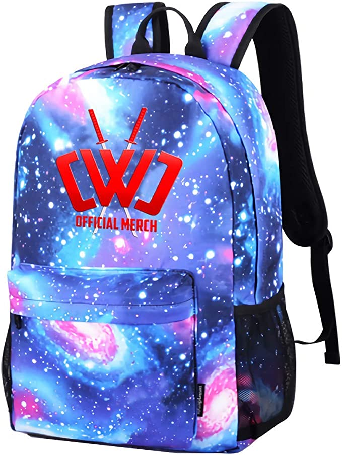 Galaxy Printed Shoulders Bag CWC Chad Wild Clay Ninja Fashion Casual Star Sky Backpack For Boys&girls
