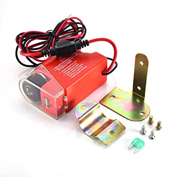 Hete-supply 12 V Motorrad-Lenker, USB-Buchse mit 5 V/1.5 A mit ...