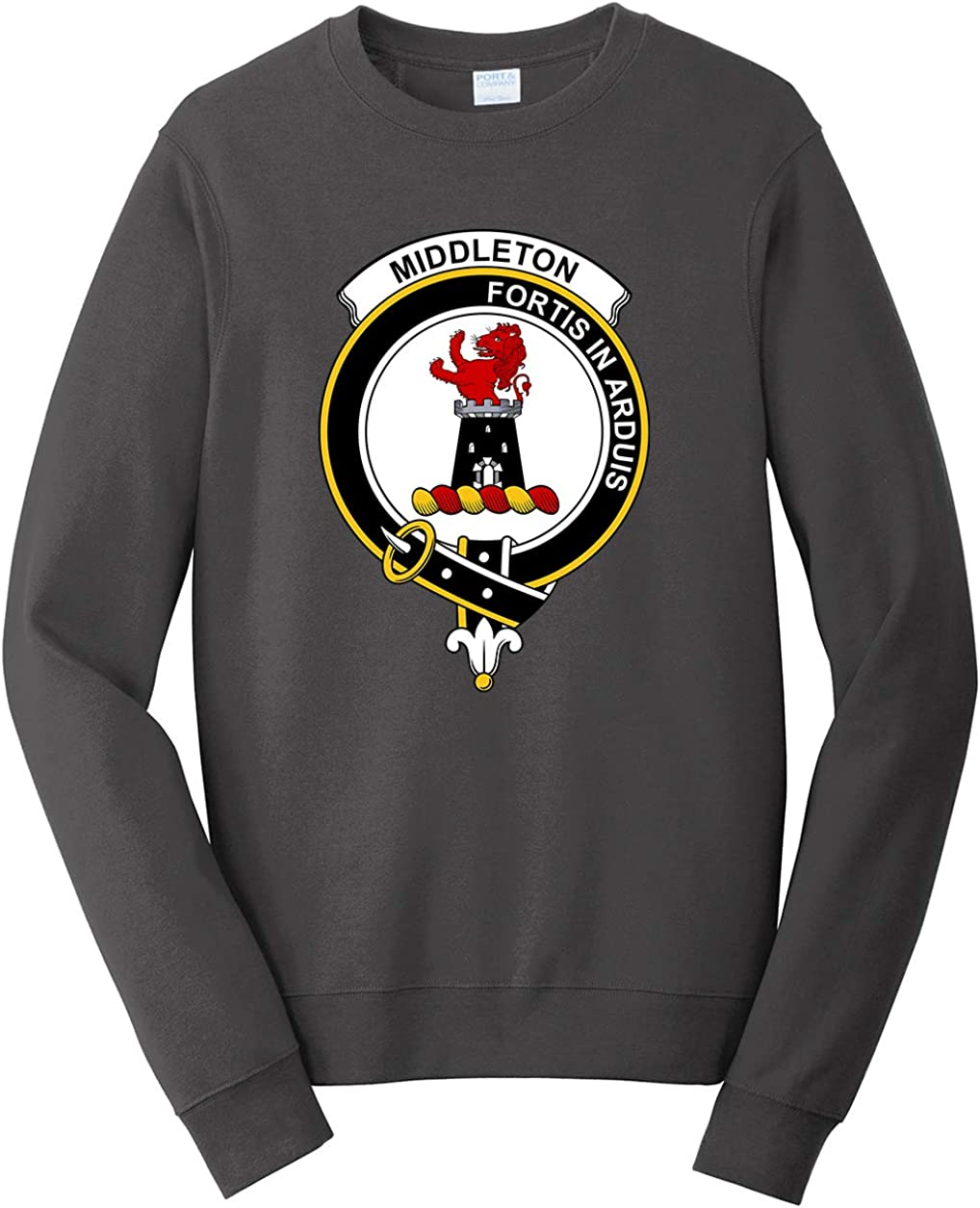 Tenacitee Mens Scottish Clan Crest Badge Middleton Sweatshirt