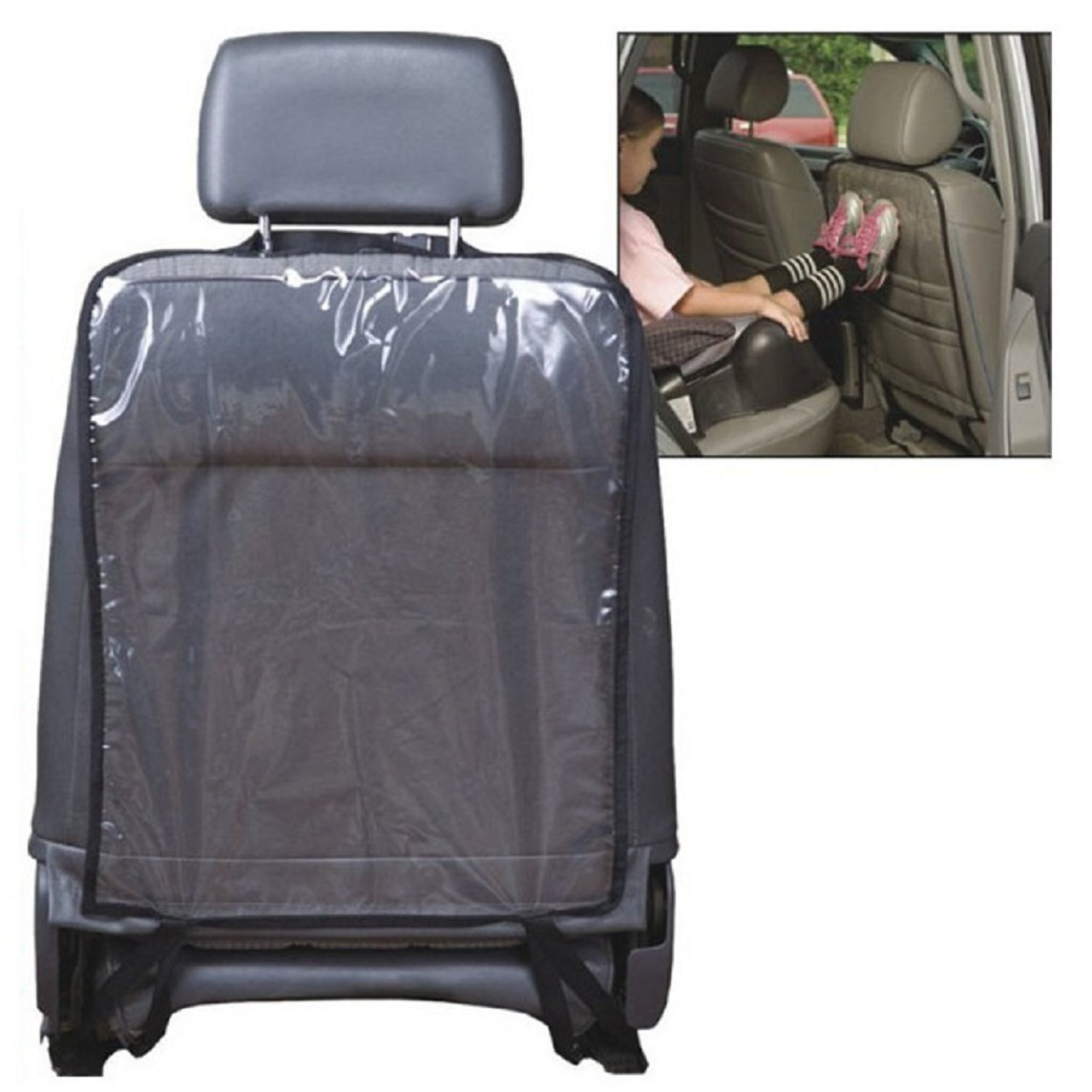 Bessky® Car Auto Seat Back Protector Cover For Children Kick Mat Mud Clean (Black)