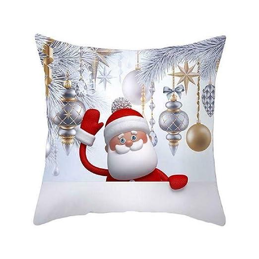 Smartrich Merry Christmas Fundas de Almohada, Fundas de ...
