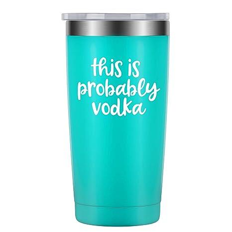 Amazon.com: Vaso de Vodka con texto en inglés «This is ...