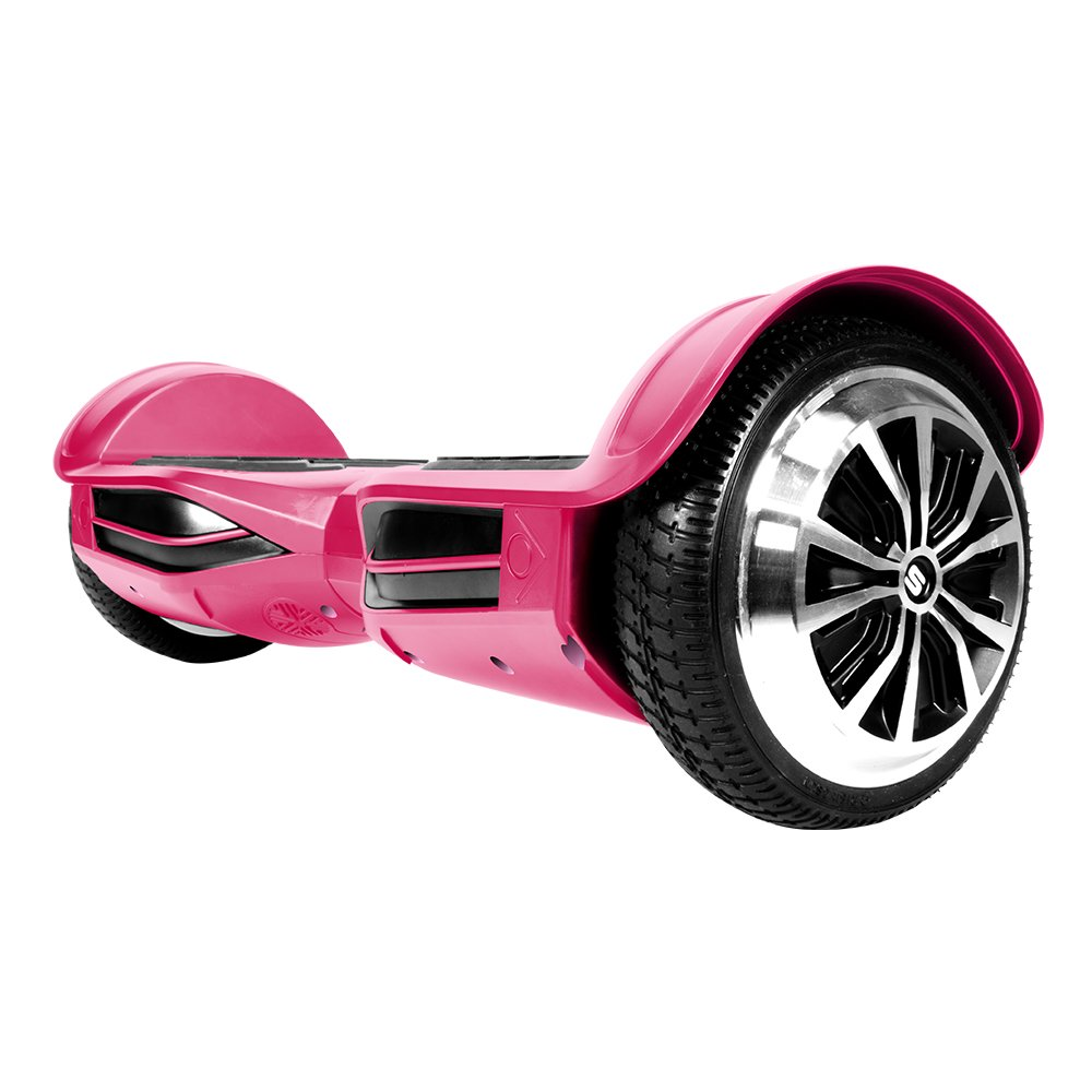 SWAGTRON T380 Hoverboardblueetooth Speaker & Lights, Personalize Experience w Android iOS App (Pink)