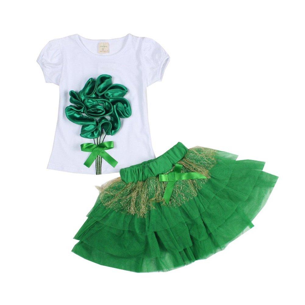 Little Girls\' 3D Flower Tutu Skirts Sets