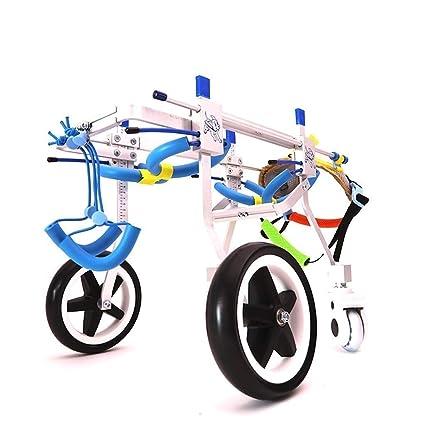 Silla de ruedas con patas traseras para mascotas, rueda ajustable ...