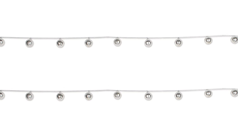 Beistle 53344 Disco Ball Garlands 2 Piece 1.5 x 78 Silver//Gray