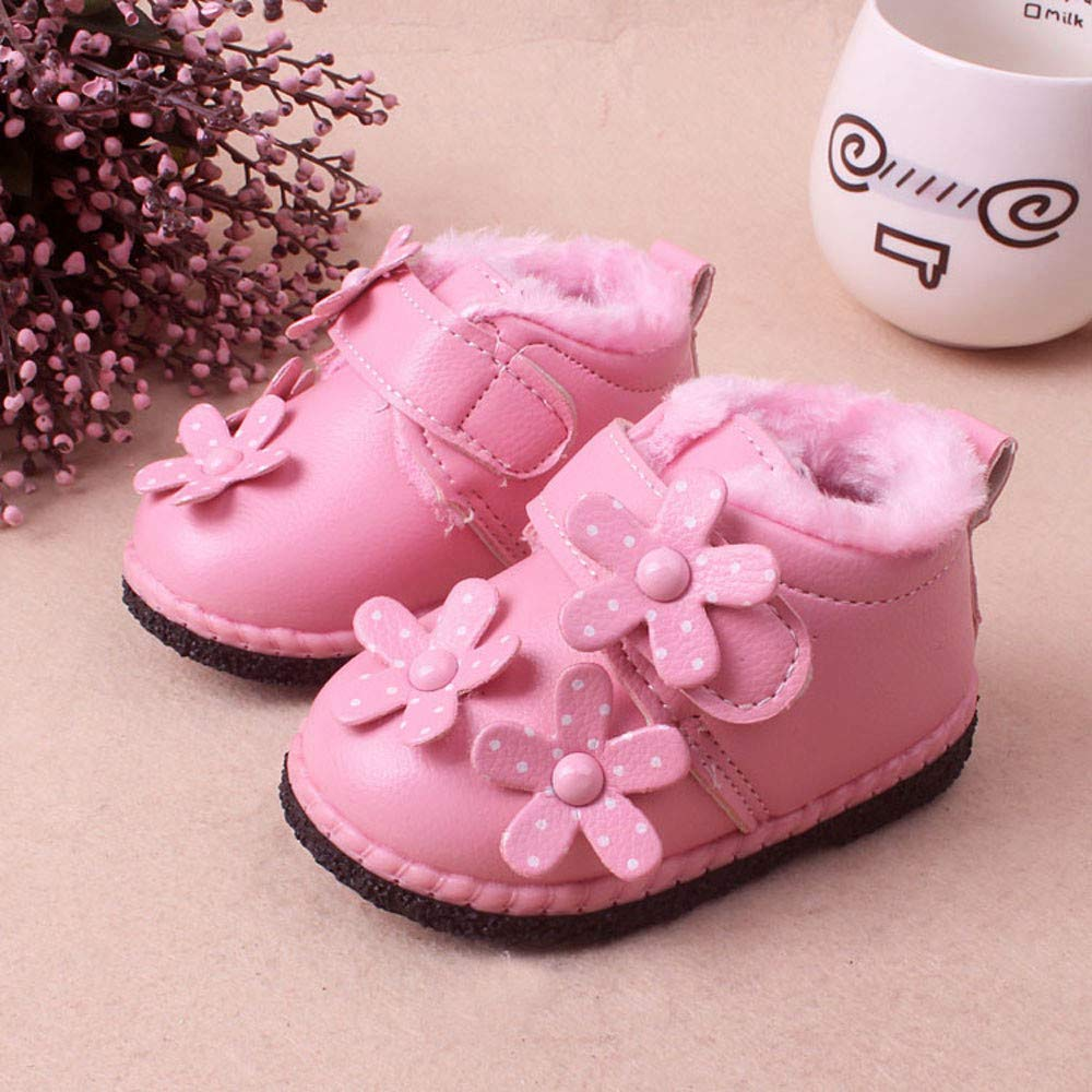 Lanhui Baby Winter Warm Sport Shoes Infant Toddler Girls Boys Snow Boots Sneakers