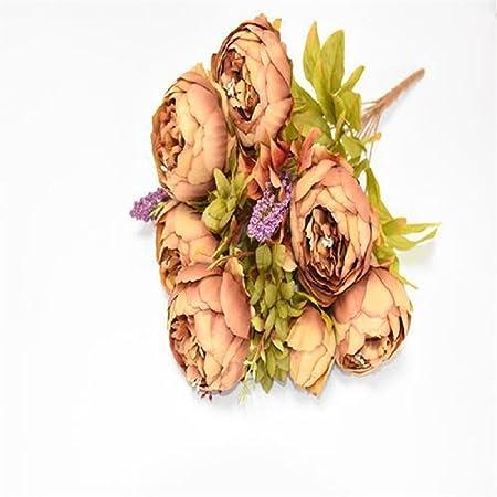 67bc7218c8 8 Heads/Bouquet Elegant Artificial Peony Silk Flowers Home Wedding ...