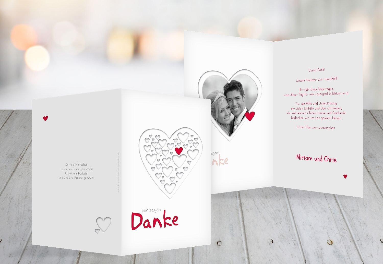 Kartenparadies Danksagung für Hochzeitsgeschenke Hochzeit Dankeskarte Herzform, Herzform, Herzform, hochwertige Danksagungskarte Hochzeitsglückwünsche inklusive Umschläge   10 Karten - (Format  105x148 mm) Farbe  Rot B01NAVM0CJ | 2019  | Neuankömmling   759f29