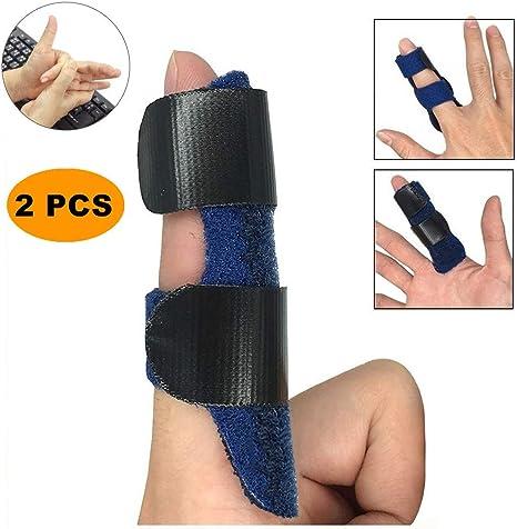 2 Pack Dedo Extensión Férula para Dedo en Gatillo, Tirante Ajustable de la Férula del Dedo,