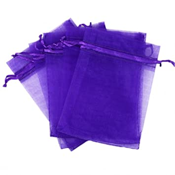 Amazon.com: wahdawn 100 piezas 5 x 7 vacío Cordón bolsas de ...