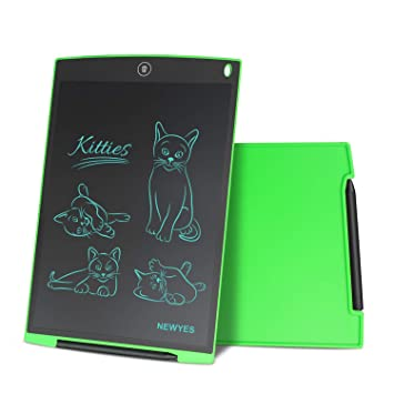 NEWYES 12 Pulgadas Tableta Gráfica, Tableta de Escritura LCD, Portátil para Hogar, Escuela, Oficina, Incluye 1 lápiz, 2 imanes para Nevera,1 Año de ...