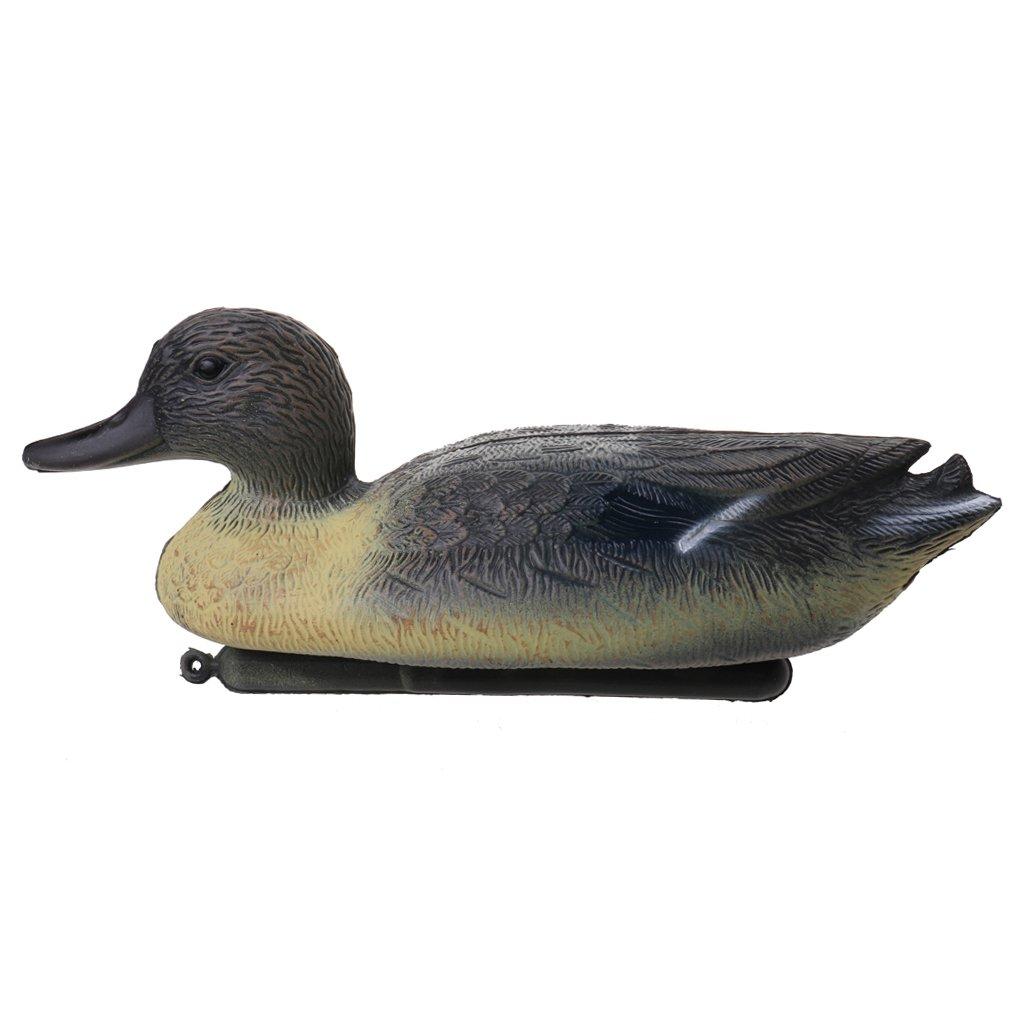 Baosity Anatra da Caccia PE Decoy Mallard Duck Drake Galleggiante Keel Deadly WILDFOWLER