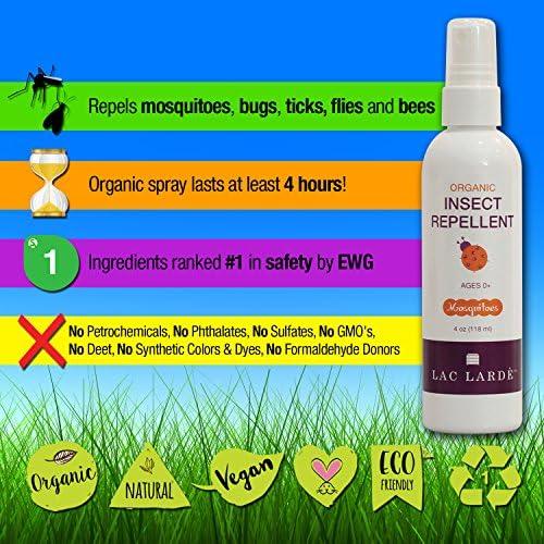 Lac Larde Natural Repelente de mosquitos cuerpo spray, un ...