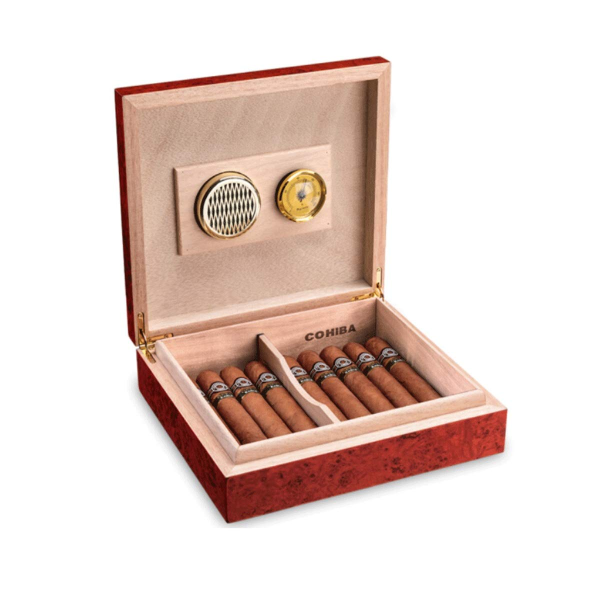 WENPINHUI Cigar Box, Desktop Cigar Hygrometer with Humidifier, Can Accommodate 20-25 Cigar (Color : A) by WENPINHUI
