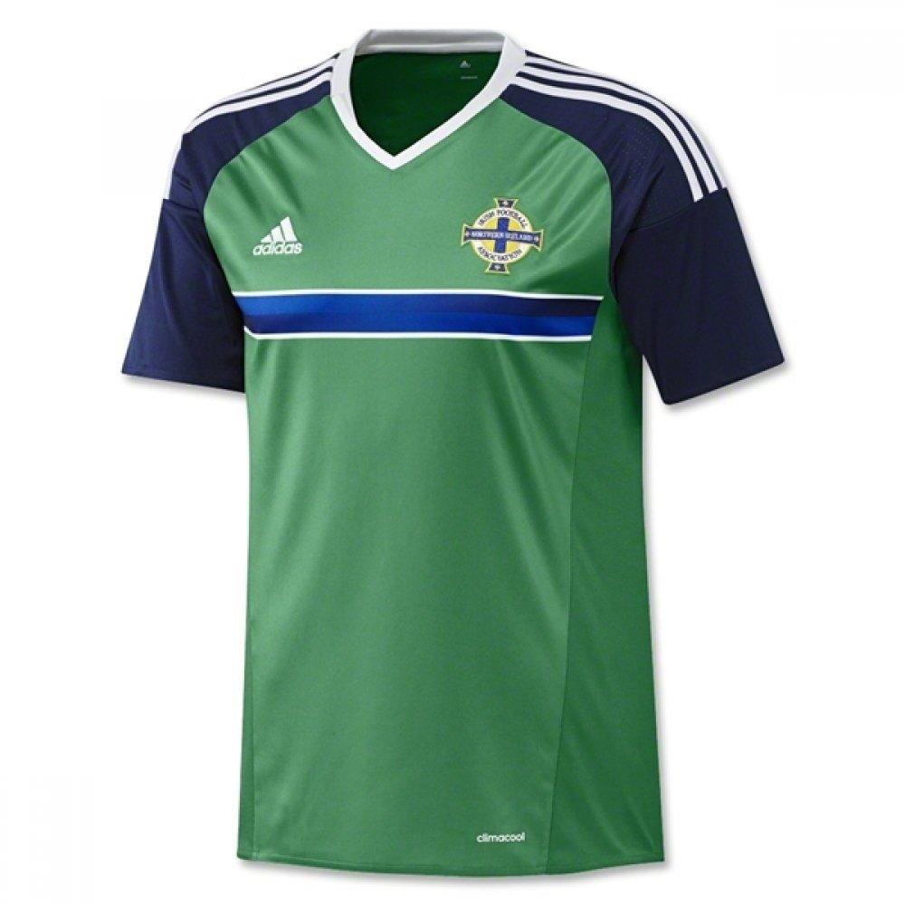 2016-2017 Northern Ireland Home Adidas Football Shirt B01GNQLVACGreen Large 42-44\