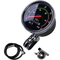 MakeTheOne Old School Style Bicycle Speedometer Analog Odometer Classic Style for Exercycle & Bike by Maketheone
