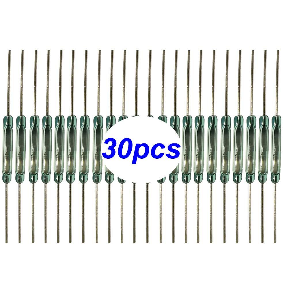Contact Reed 2mm * 14mm N//O Normalement Ouvert Gebildet 30 pi/èces Interrupteur Reed Interrupteur Magn/étique