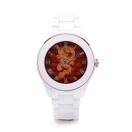 queenslandmen sceramic reloj bandas dragones Vintage reloj Zodiac